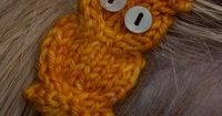 knitted owl patterns free | Preview This Free Knitting Pattern: Hoot Owl Applique
