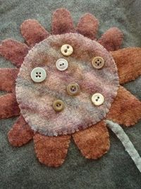 Wool and buttons - cute!