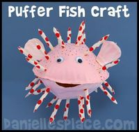 Paper Plate Puffer Fish An amazing site for lots of under the sea craft ideas. Www.daniellesplace.com/html/under the sea.html