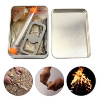 Flint Stone Survival Tools Kit Bow Drill Blowing Torch Tool Portable Outdoor Camping Primitive Fire Starter