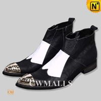 CWMALLS® Mens Leather Ankle Dress Boots CW750235