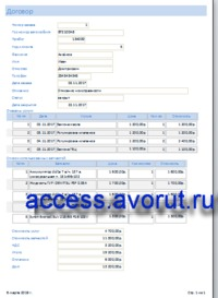 """Ready database access Car service. Report """"Agreement"""""""