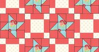 Build a quilt on PatternJam.com. Baby Friendship Star Quilt. Used Miss Kate by Bonnie & Camille for Moda