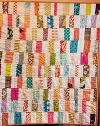 This looks like a cool quilt to make!! Good thing I keep all of my leftover material! :)