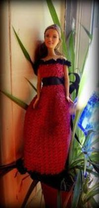 Cherise Barbie Dress Free Crochet Pattern