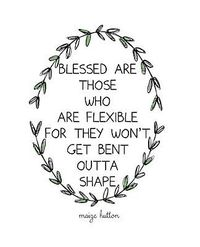 �™�....The Art of Yoga allows me to express......a quote you will have heard me say from The Wanmer Weave: 'I have to be flexible - I'm a yoga teacher' (at least mentally flexible!).