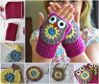 How To Crochet Adorable DIY Owl Mittens | DIY Tag