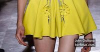 John Galliano - Mini Yellow Dress
