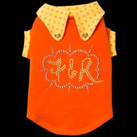Fifi & Romeo Limited Edition Orange Top with Pink Polka Dots
