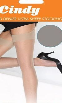 SHOE SIZE 3-8 2 PAIRS STAY UP STOCKINGS 30 DENIER NEARLY BLACK ONE SIZE