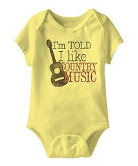 Banana 'I Like Country Music' Bodysuit - Infant by American Classics #zulily #zulilyfinds