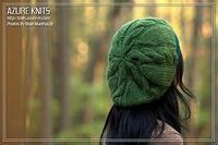 Knit slouch hat pattern