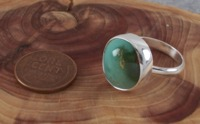 Turquoise Ring in Sterling Silver with Genuine Nevada Turquoise Size 7 1/2 $48.95