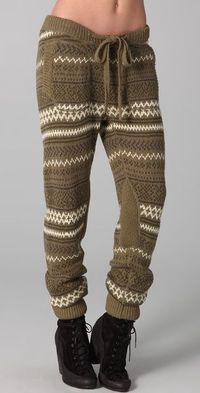 Fair Isle Knit Pants - Lyst I'm usually not huge knitted pants fan but I dig these