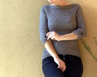 Ravelry: Clear Lines Pullover pattern by Ela Torrente