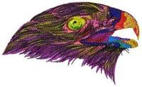 PARROT'S HEAD-EMBROIDERY DESIGN