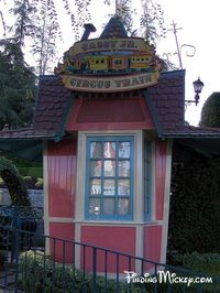 This little building used to be a ticket booth for the Casey Jr. It was originally designed by Bruce Bushman.