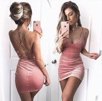 Strap Lace Up Back Short Bodycon Dress �'�2634.50