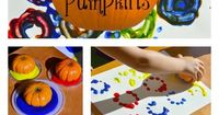 {Painting WITH Pumpkins!} 3 Techniques to try with Preschoolers