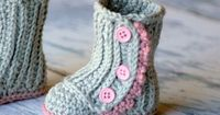 Crochet Pattern 112 Baby Wrap Boot Instant by TwoGirlsPatterns
