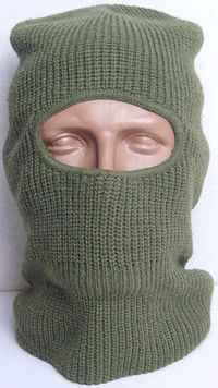 Russian Army Winter Balaclava Cap in Green Wool Hat for Steel Helmet $19.00