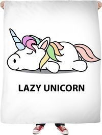 Lazy Unicorn Fleece Blanket $65.00