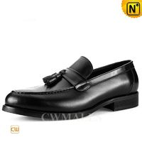 CWMALLS® Mens Leather Tassel Loafers CW716038