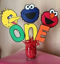 Sesame Street Party Decorations Birthday Table Centerpiece