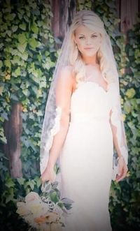 Wedding Dress Accessories - Veil Ivory Finger Tip Blanca Veils Lace Veil $85 USD - New With Tags/ Unaltered