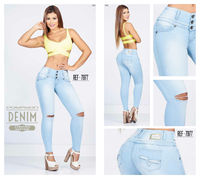 Ripped light denim 100% Authentic Colombian Push Up Jean 7977 by Posesion $67.50 Visit www.jdjeans.com to get yours today!
