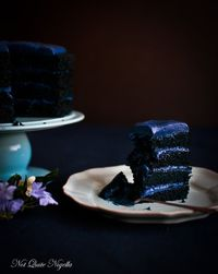 There was a song that I had in my head as I was baking this cake. It was, quite appropriately Blue Velvet, the version sung by Isabella Rossellini in the 1986 f