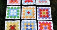 9 Great Granny Blocks by Pleasant Home, via Flickr wonderful colors and placement of these blocks