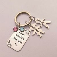 Personalised Auntie present - personalized Auntie keychain gift - This Aunt Auntie belongs to - personalised Auntie keyring gift by EmsStampedJewellery on Etsy