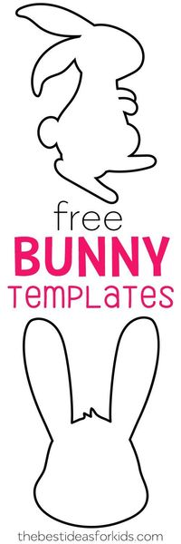 Get these free Easter Bunny templates!