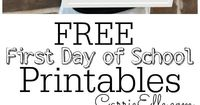I have some fun and FREE First Day of School Printables for you!