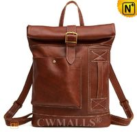 Men Leather Bags | CWMALLS® Tanned Leather Travel Backpack CW908028 [Patented Design, Global Free Shipping]