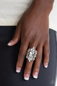 Paparazzi Things That Go Boom! - White EMP EXCLUSIVE Ring $5.00
