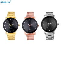 Classic Fashion Stainless Steel Belt Round Analog Quartz Gold Men Watch Z503 5Down $16.75