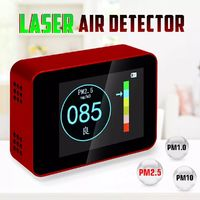 LCD Portable Air Quality Tester Health Testing Laser PM1.0 PM2.5 PM10 Detector Home Office Car Air Quality Tester