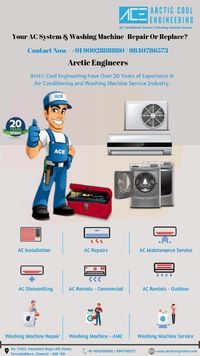 Arctic Cool Engineering With 25 years of experience, we bring expertise to resolve your Air Conditioning and Washing Machine Service and Repair to your doorstep. We offer highest quality installation services, periodic maintenance service, emergency repai...
