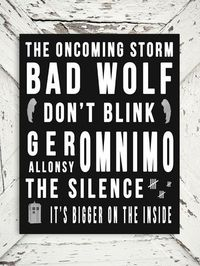 Dr Who Quote Bad Wolf The Oncoming Storm by ThePoetandTheGypsy