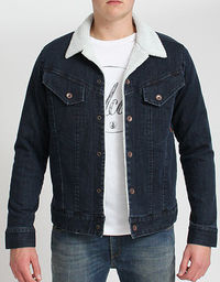 Volcom Ramble Denim Sherpa Jackert The Volcom Ramble Denim Sherpa jacket just blown in from the Fall 2014 collection. Classic western styled jacket made from 100% cotton denim with a modern slim fit a sherpa fleece lining in the body a http://www.comp...