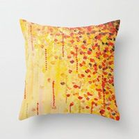 WHEN IT FALLS Original Art Throw Pillow Cover 18 x by EbiEmporium, $30.00