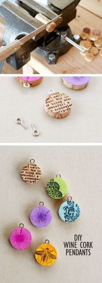 What do you do with used wine corks? Don't just hoard them. Make them into a cute necklace that is perfect for gift giving!