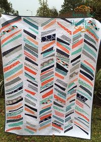 from the blue chair: Wonky, Improv Chevron Quilt