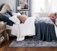 Triangle Stitch Washed Cotton Quilt and Sham #potterybarn