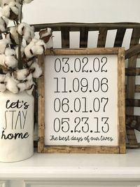 Best Days of Our Lives Personalized Dates by TheHandmadeFarmhouse