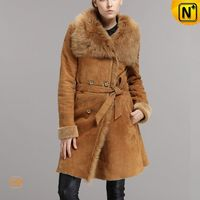 Womens Winter Coat | Double Breasted Shearling Coat CW640235 | CWMALLS.COM