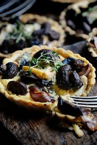 Thyme for Mushroom, Roasted Red Onion and Blue Cheese Tarts