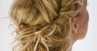 a tad bit obsessed with the messy up-do, kinda braid combo